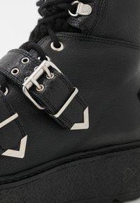 Shoe The Bear - BEX BUCKLE  - Cowboy/biker ankle boot - black - 2