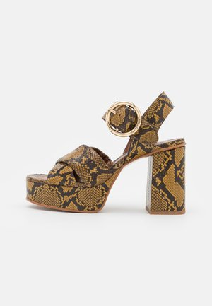 LYNA  - Platform sandals - dark yellow