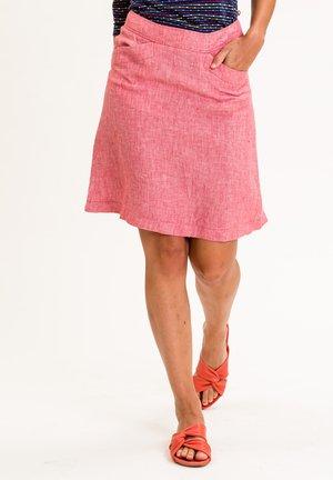 YVETTEINA - A-line skirt - rot meliert