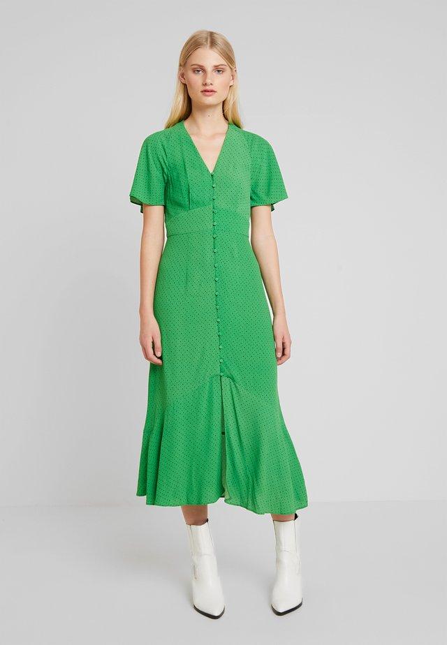 MICRO SPOT PRINT BUTTON DRESS - Vestido largo - green/multi