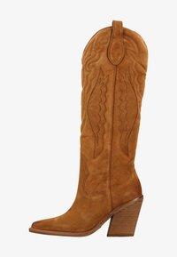 High heeled boots - brown