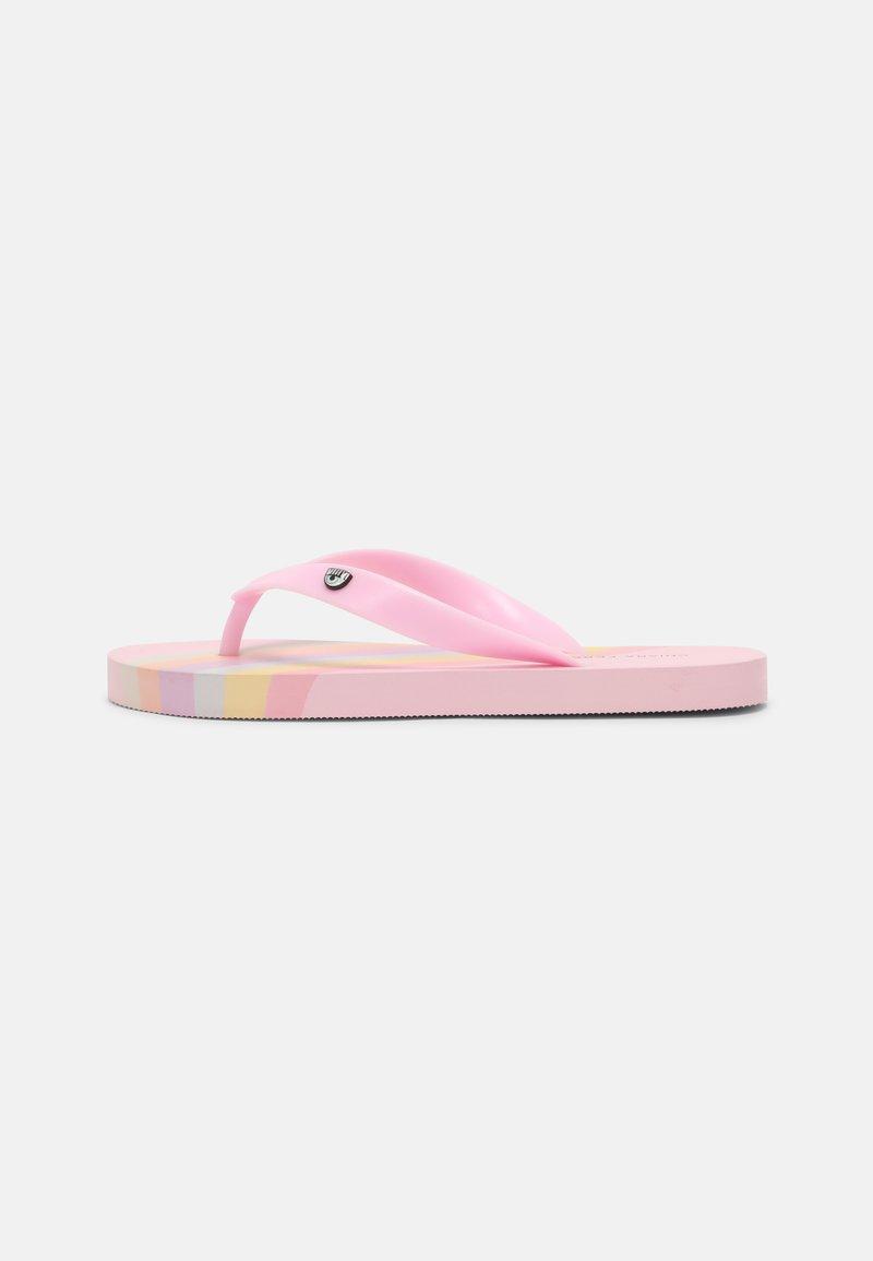 CHIARA FERRAGNI - SLIDERS - T-bar sandals - pink rainbow