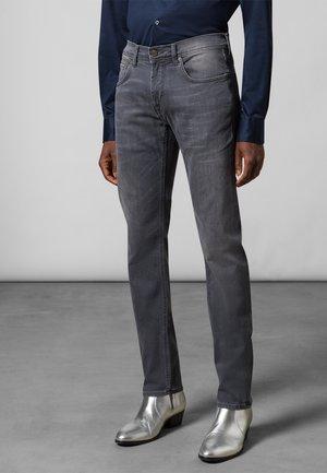 Slim fit jeans - dark grey used baffie