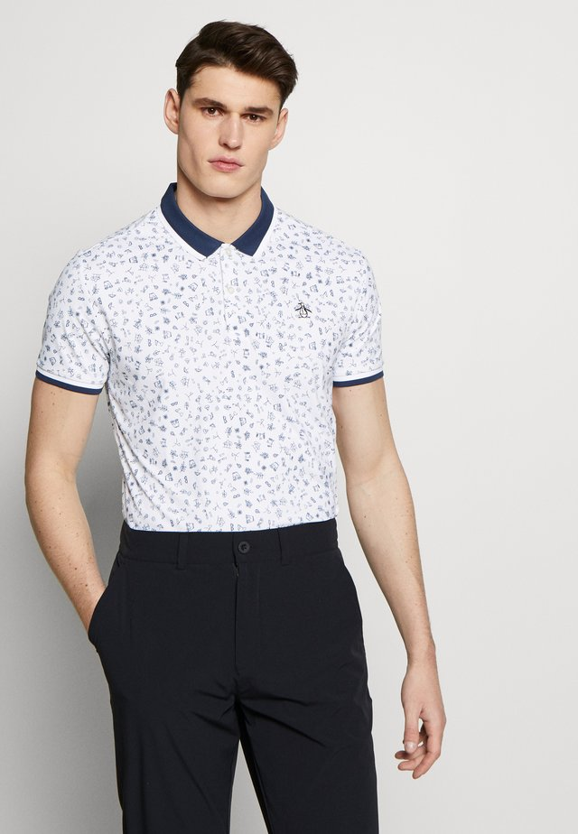 CLUBHOUSE PRINTED - Polo - bright white