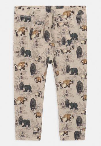 NBMNICLAS PANT UNISEX - Trousers - peyote melange