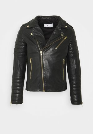 HIPSTER - Leather jacket - black