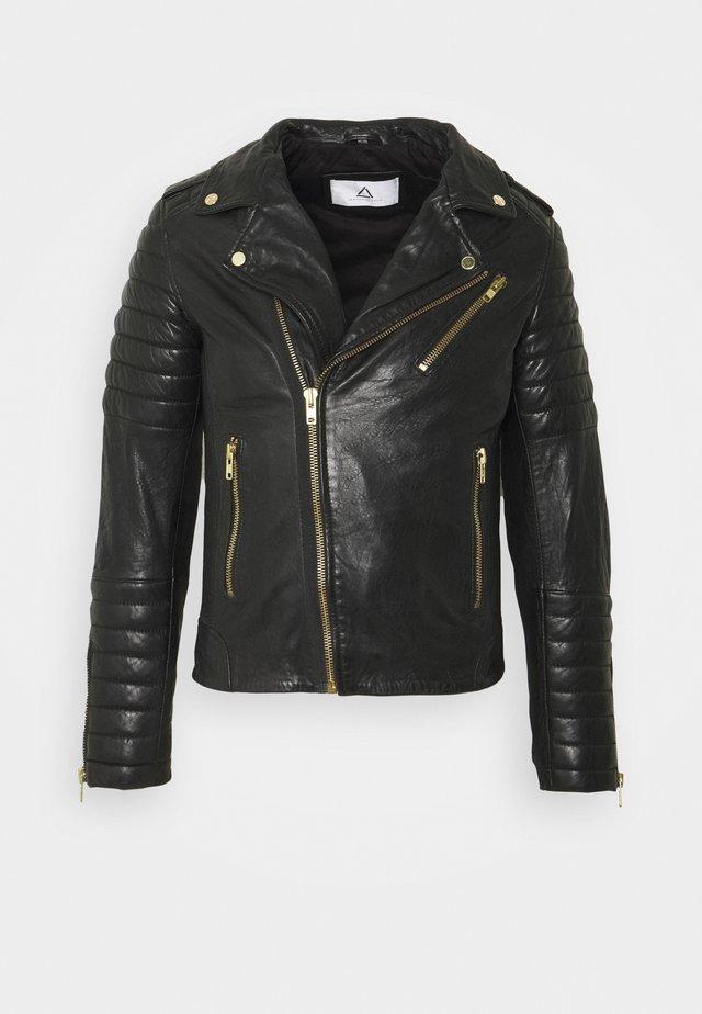 HIPSTER - Leather jacket - black
