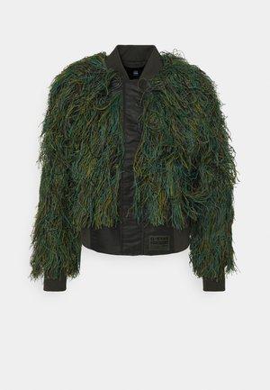 GILLIE SUIT BOMBER WMN - Bomber Jacket - green camo fringe