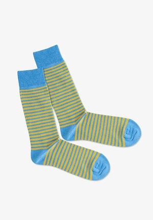 Strumpor - blue yellow