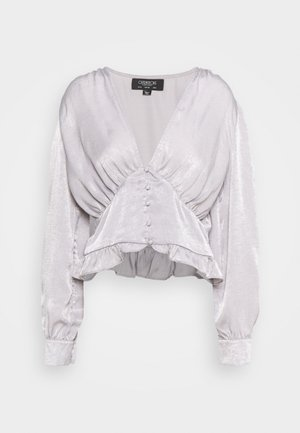 PUFF SLEEVE BLOUSE IN METALLIC - Blusa - silver