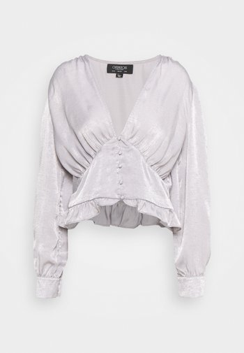 PUFF SLEEVE BLOUSE IN METALLIC