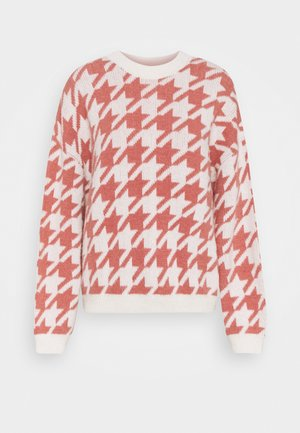 COLLEEN JUMPER - Jumper - pink/offwhite