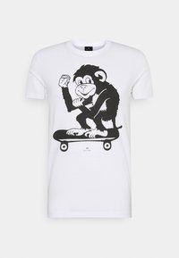PS Paul Smith - MENS SLIM FIT SKATE MONKEY - Print T-shirt - white - 3