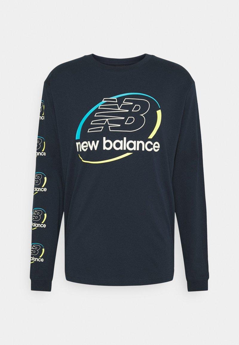 New Balance - ATHLETICS CIRCULAR STACK LONGSLEEVE TEE - Långärmad tröja - eclipse