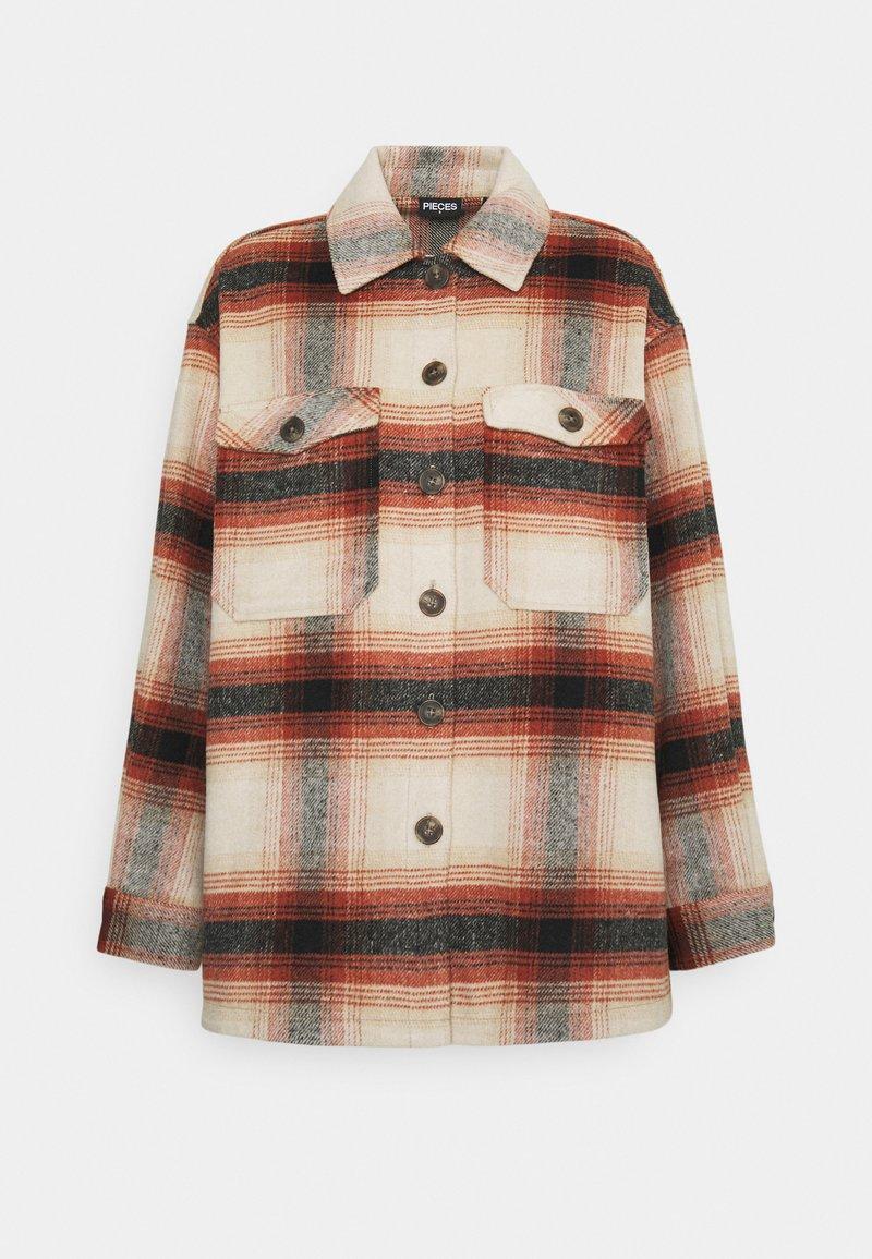 Pieces - PCCARLENE SHACKET - Summer jacket - aragon/birch/black