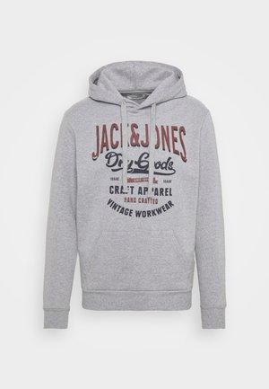 JJDENIM LOGO HOOD - Sweatshirt - mottled grey