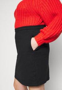 Even&Odd Curvy - Mini skirt - black - 4