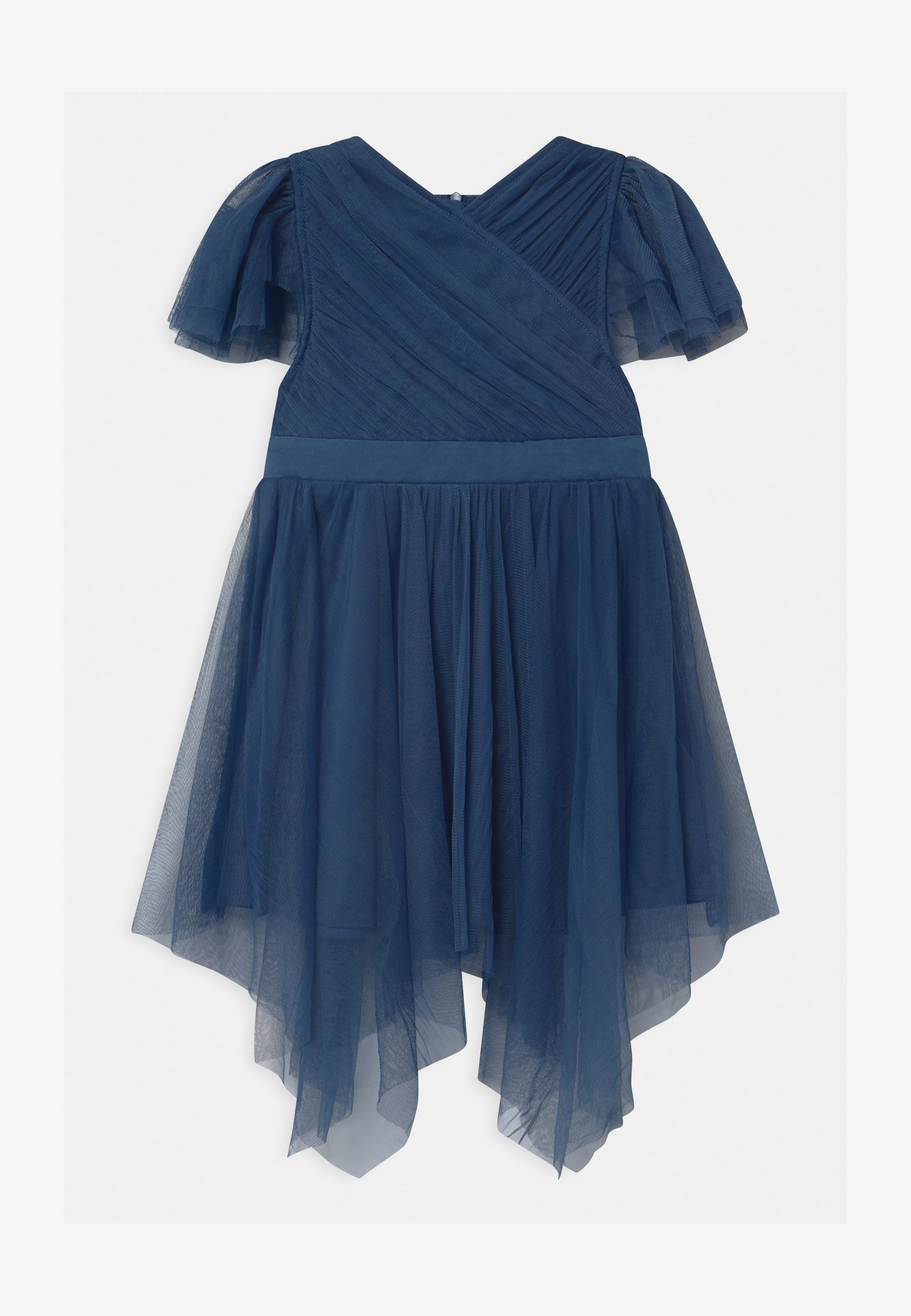 wrap hanky hem - cocktailkleid/festliches kleid - indigo blue