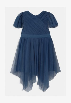 WRAP HANKY HEM - Cocktail dress / Party dress - indigo blue