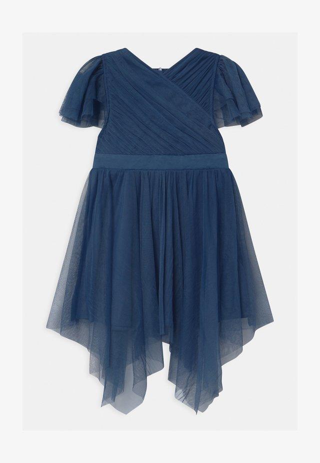 WRAP HANKY HEM - Juhlamekko - indigo blue