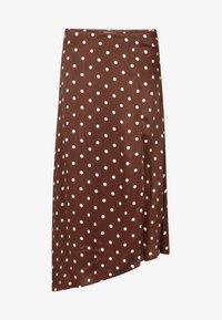 WE Fashion - A-line skirt - dark brown - 4