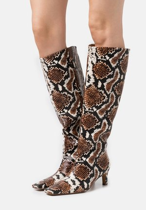 SQUARED LONG TOE SHAFT BOOTS - Boots - brown/multicolor