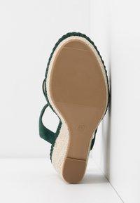 Anna Field - LEATHER - Højhælede sandaletter / Højhælede sandaler - green - 6