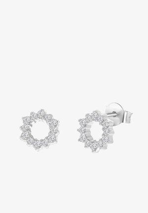 ZILVEREN ROND MET ZIRKONIA - Earrings - zilver
