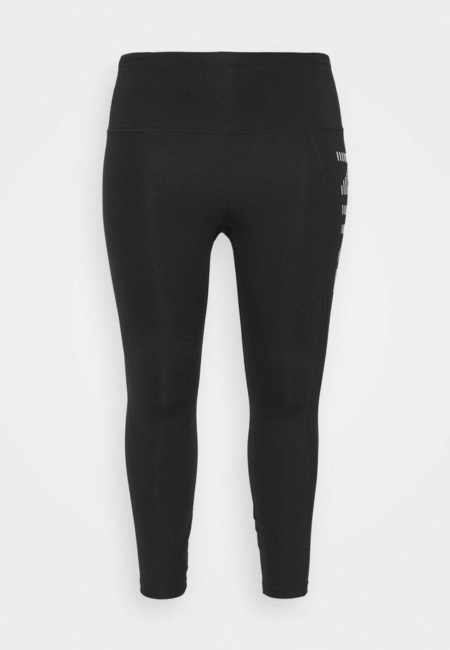 AIR EPIC FAST 7/8 - Leggings - black/silver