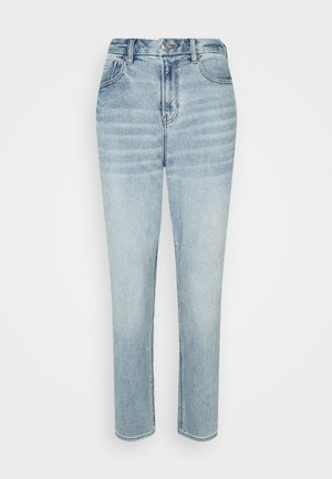 Straight leg jeans - broken glass blue