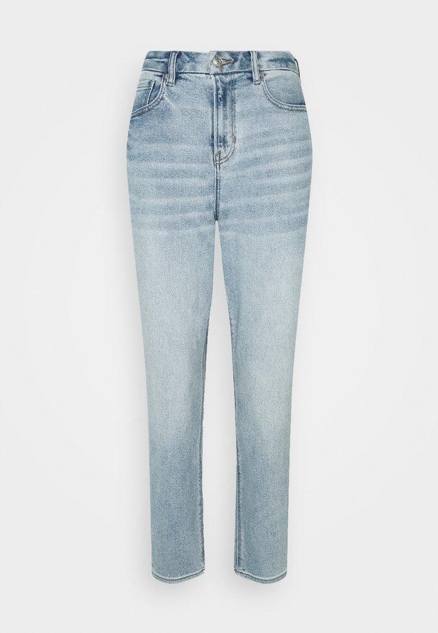 Straight leg jeans - broken glass blue