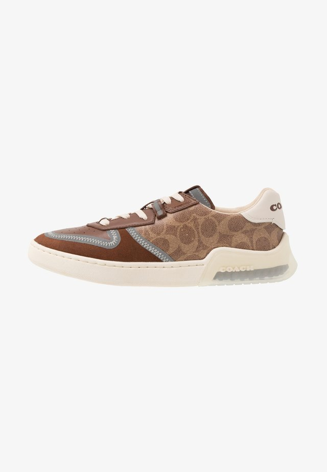 CITYSOLE SIGNATURE COURT - Trainers - khaki/saddle