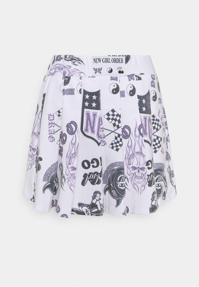 SKIRT - Minifalda - white