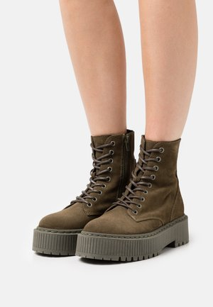 SKYHY - Lace-up ankle boots - khaki