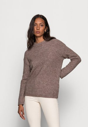 PAPINAIW - Stickad tröja - brown melange