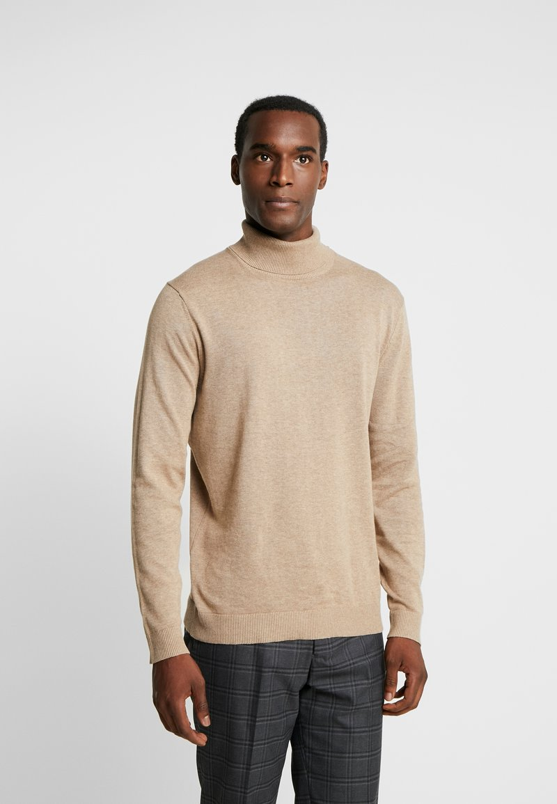 Selected Homme - SLHTOWER ROLL NECK  - Jumper - tuffet/melange
