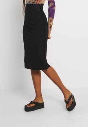 O-BAND - Pencil skirt - black