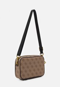 Guess - VEZZOLA SMALL NECESSAIRE UNISEX - Across body bag - brown - 1