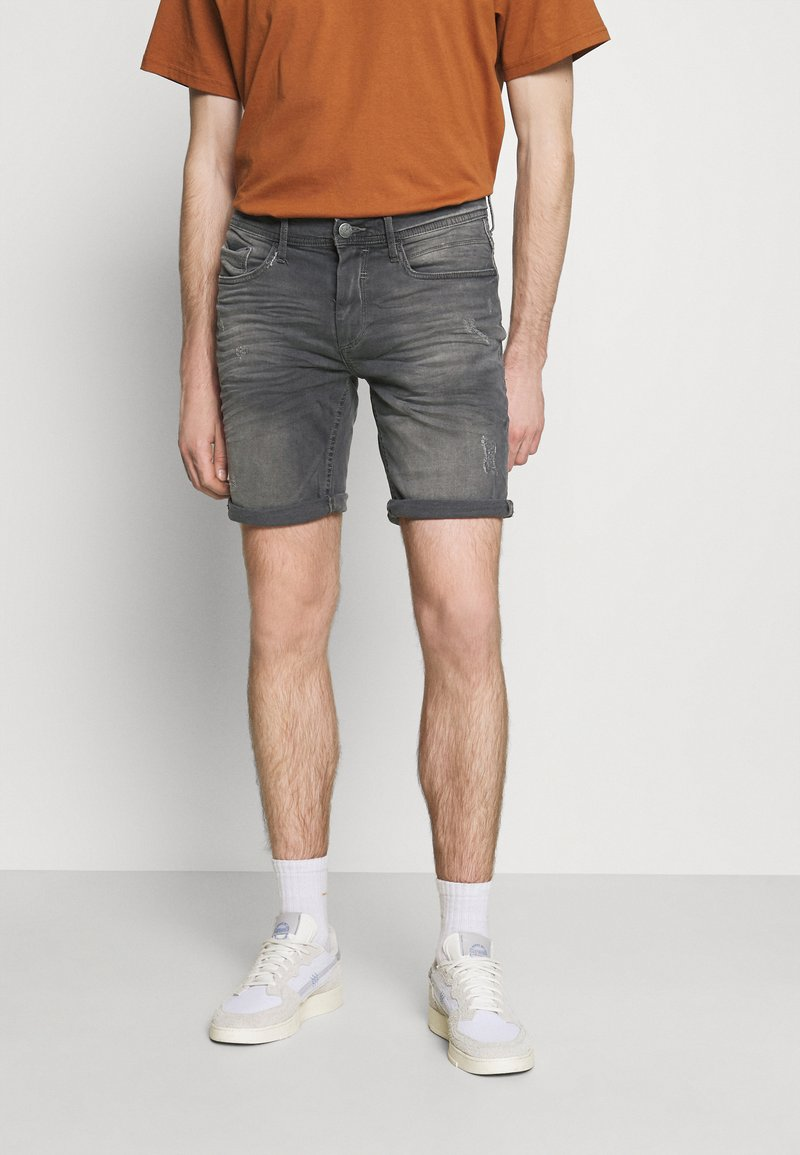 Blend - SCRATCHES - Denim shorts - denim grey