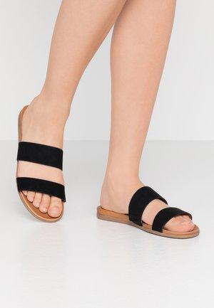DRABETH - Pantofle - black