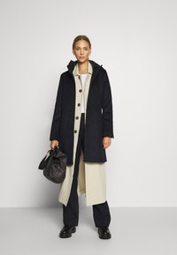 Esprit Collection - HOOD - Klasyczny płaszcz - navy - 1