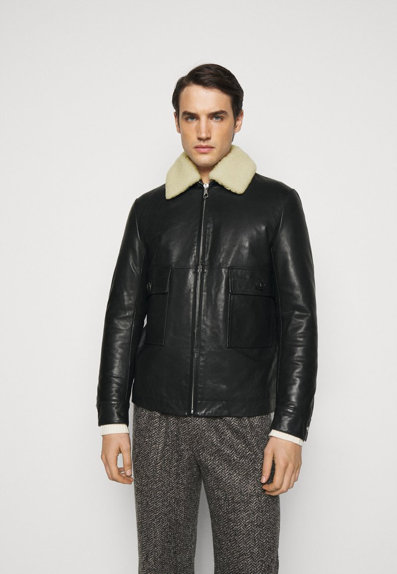 DRYKORN - GRYT - Leather jacket - schwarz