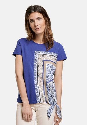 Print T-shirt - lapislazuli