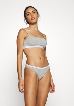 CK ONE UNLINED BRALETTE 2 PACK - Bustino - grey heather