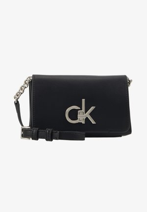 RE-LOCK FLAP CROSSBODY  - Sac bandoulière - black