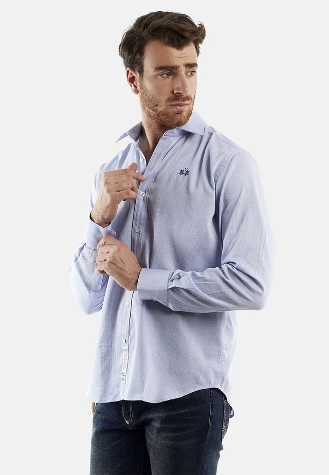 QUENNEL - Camicia - cornflower blue