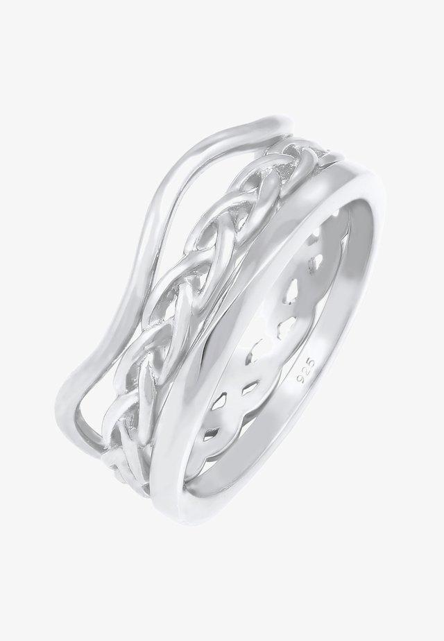 3 er SET - Anello - silver-coloured