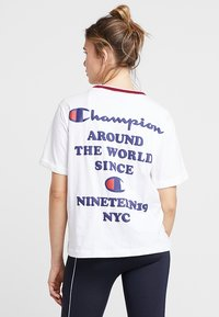 Champion - SHORT SLEEVE - Printtipaita - white - 2
