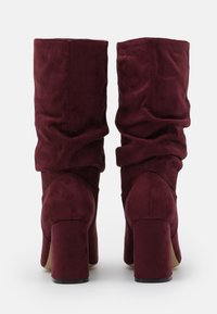 Dorothy Perkins Wide Fit - WIDE FIT BLOCK BOOT - Boots - burgundy - 3