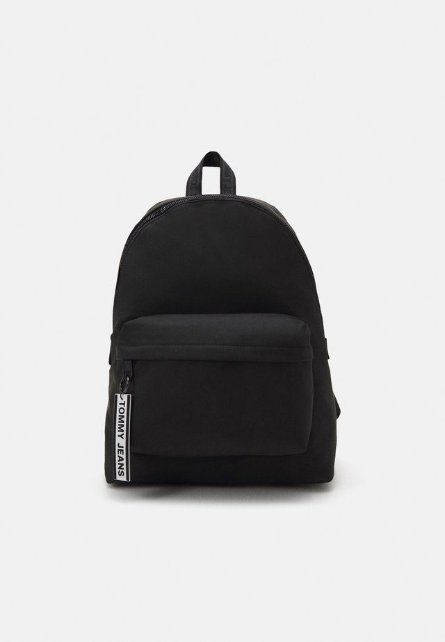 LOGO TAPE BACKPACK - Reppu - black